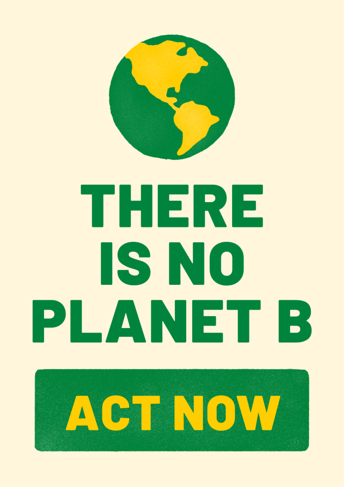 Fire relief - There is no planet B poster